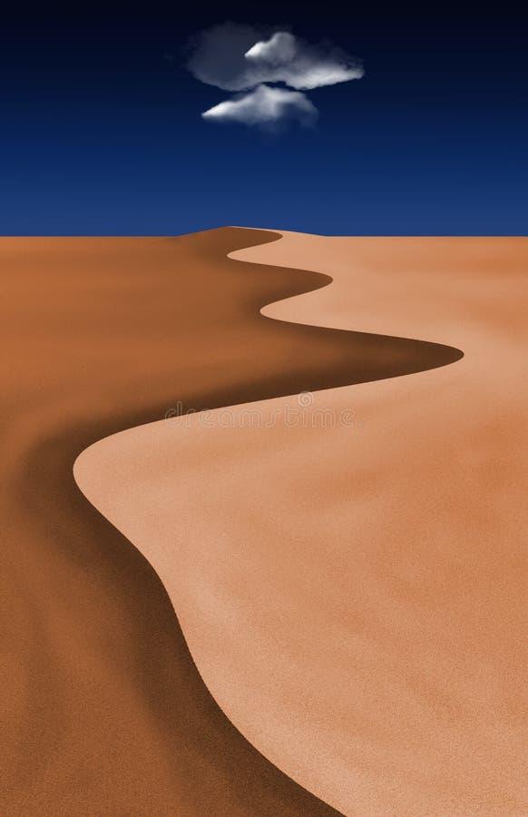 De Wolk van de woestijn stock illustratie