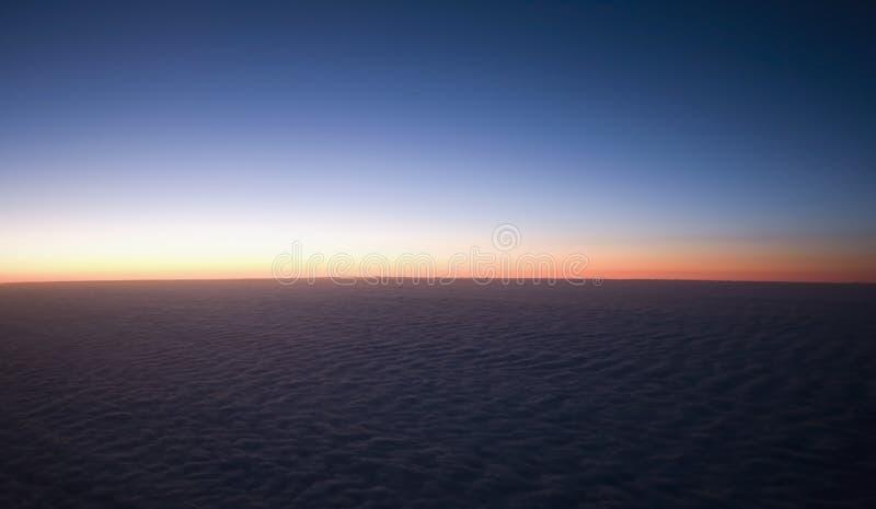 De wolk van de zonsondergang royalty-vrije stock afbeelding