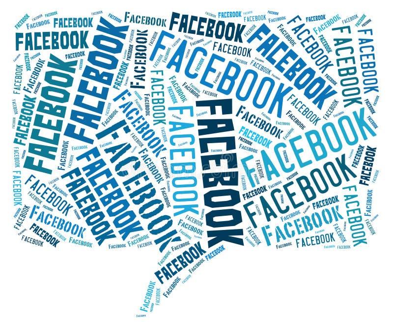 De wolk van Facebook stock illustratie