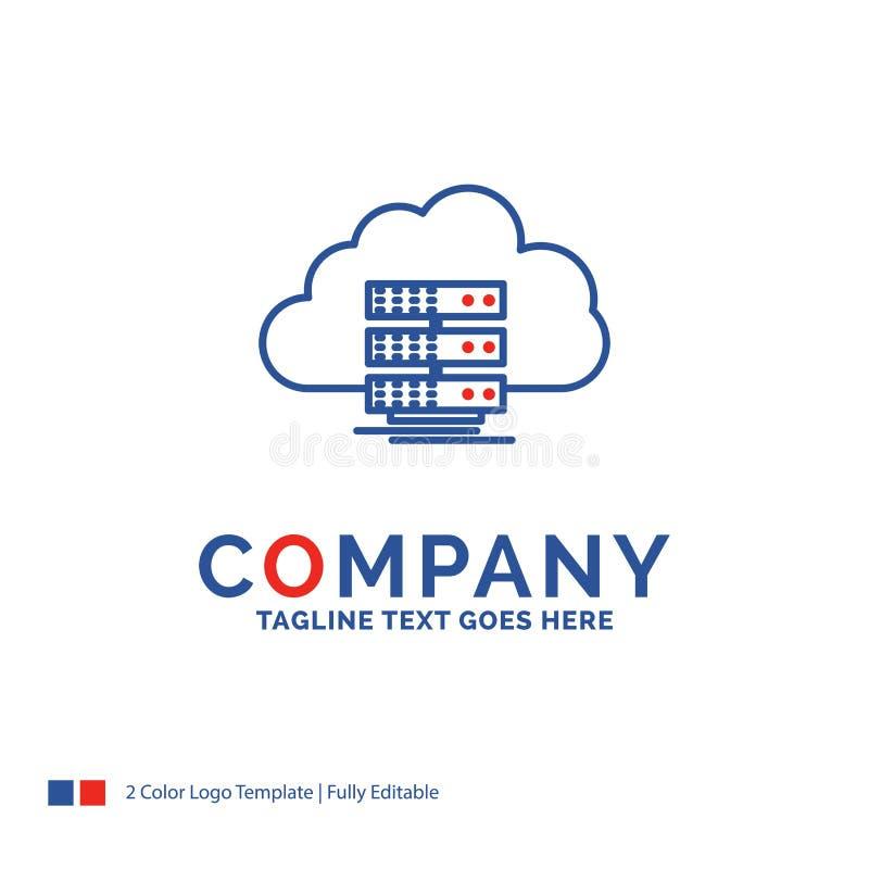 De wolk van Firmanaamlogo design for, opslag, gegevensverwerking, gegevens, FL stock illustratie