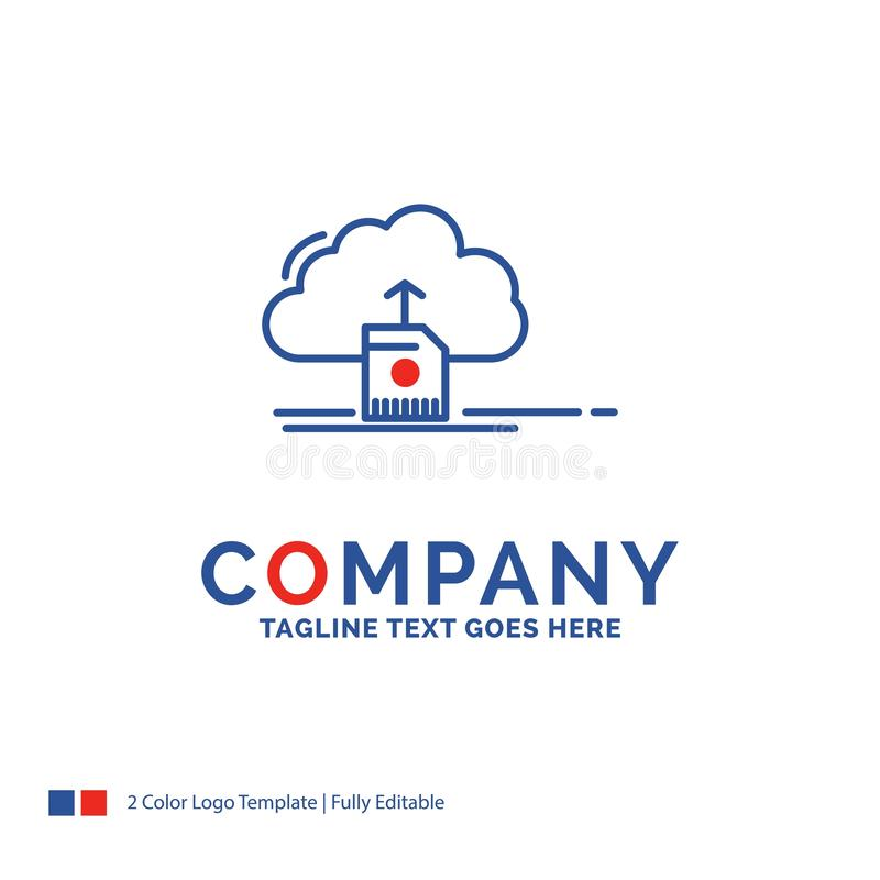 De wolk van Firmanaamlogo design for, uploadt, sparen, gegevens, computin royalty-vrije illustratie