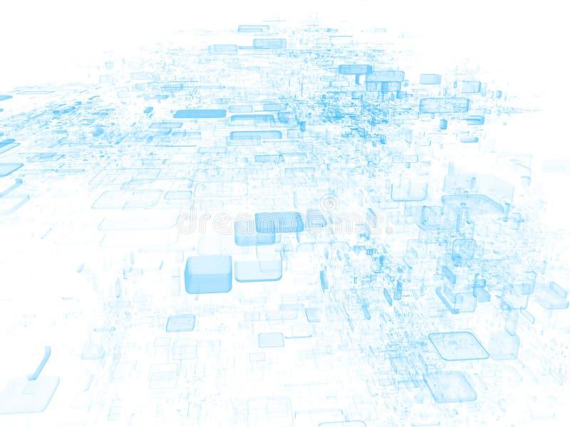 De Wolk van gegevens vector illustratie