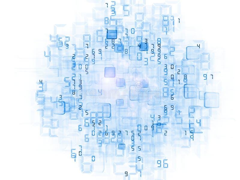 De Wolk van gegevens stock illustratie