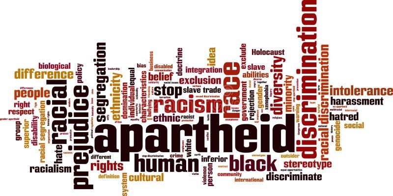 De wolk van het apartheidswoord stock illustratie