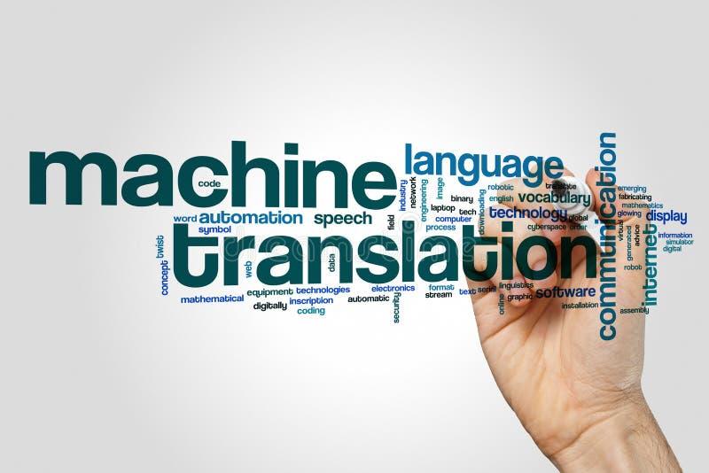 De wolk van het automatische vertalingswoord royalty-vrije stock foto's