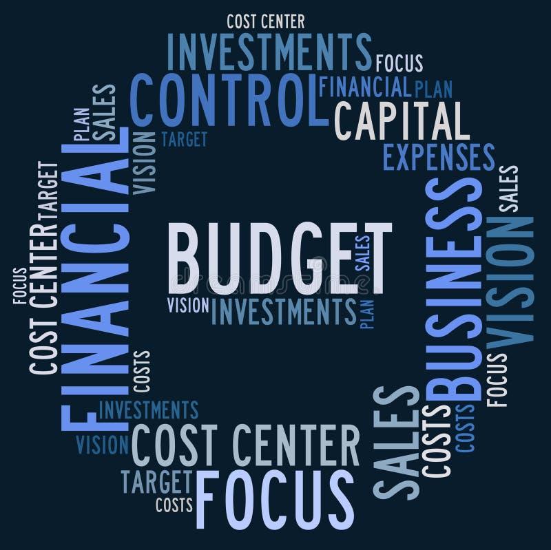 De wolk van het begrotingswoord vector illustratie