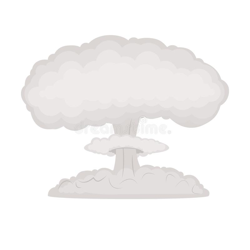 De wolk van het bomatoom stock illustratie