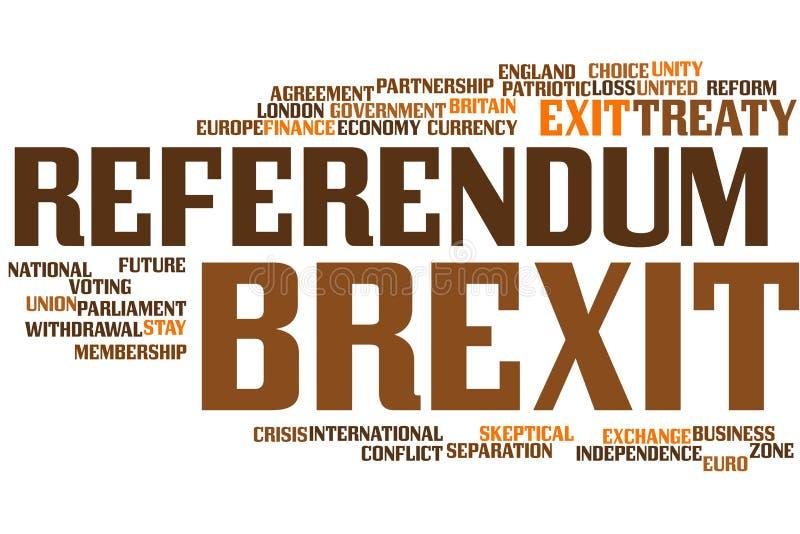 De wolk van het Brexitwoord royalty-vrije illustratie