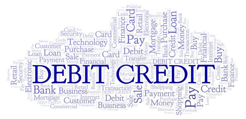 De wolk van het debet-creditwoord stock illustratie