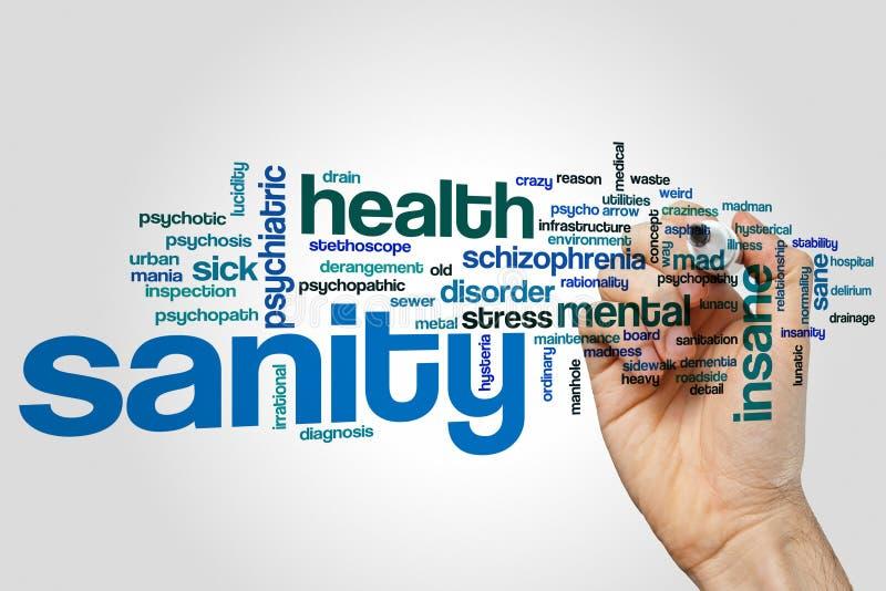 De wolk van het geestelijke gezondheidwoord royalty-vrije stock foto