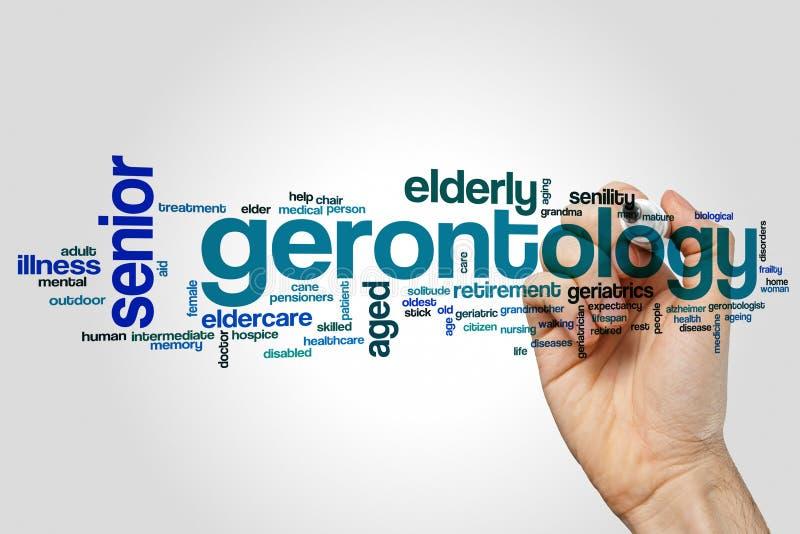 De wolk van het gerontologiewoord royalty-vrije illustratie