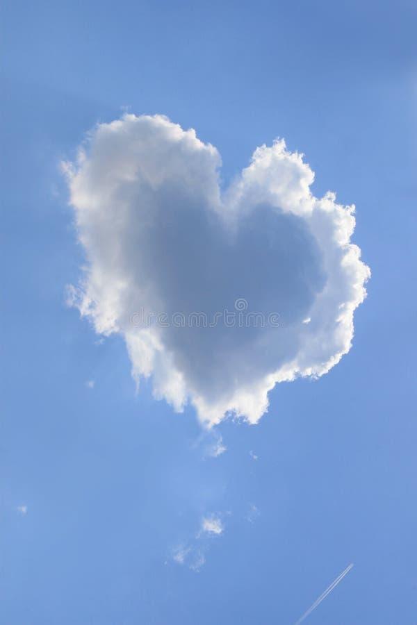 De Wolk van het hart stock fotografie