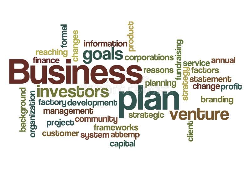 De wolk van het het businessplanwoord van  royalty-vrije illustratie