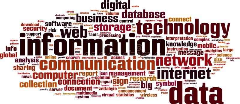 De wolk van het informatiewoord royalty-vrije illustratie