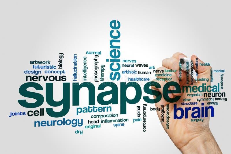De wolk van het synapswoord stock foto