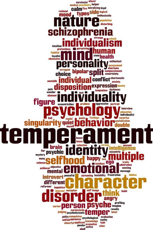 De wolk van het temperamentwoord royalty-vrije illustratie
