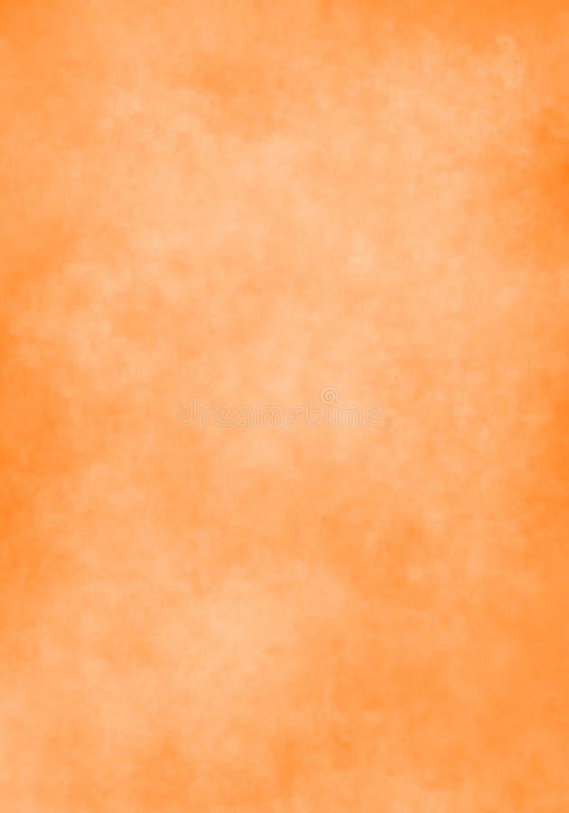 De wolk van de waterkleur, oud document, oranje muurachtergrond vector illustratie