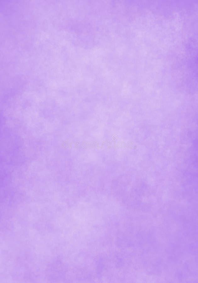 De wolk van de waterkleur, oud document, purpere muurachtergrond vector illustratie