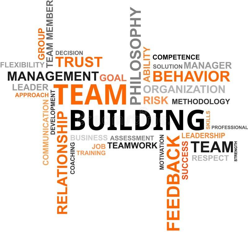 De wolk van Word - de teambouw stock illustratie