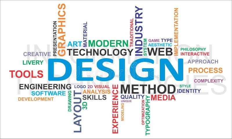 De wolk van Word - ontwerp royalty-vrije illustratie
