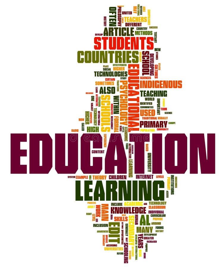 De Wolk van Word van het onderwijs vector illustratie