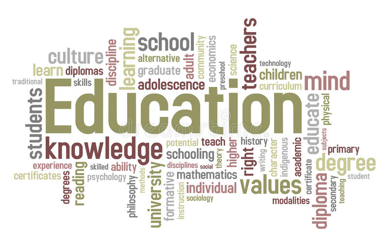 De Wolk van Word van het onderwijs royalty-vrije illustratie