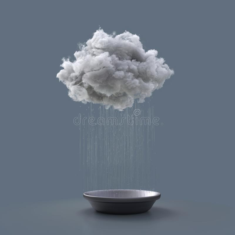 De wolk vult het bassin vector illustratie