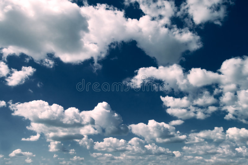 De wolken stock fotografie