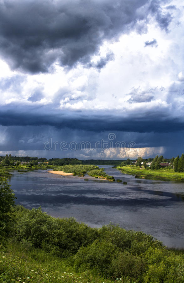 De wolken stock foto's