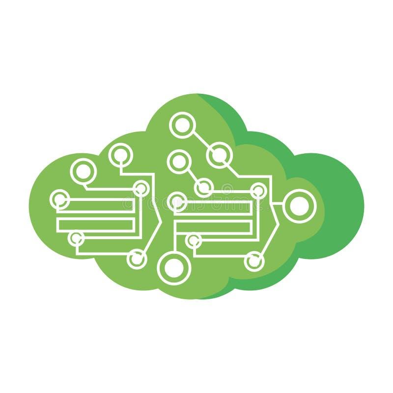 de wolken elektronische component van de computerkring royalty-vrije illustratie