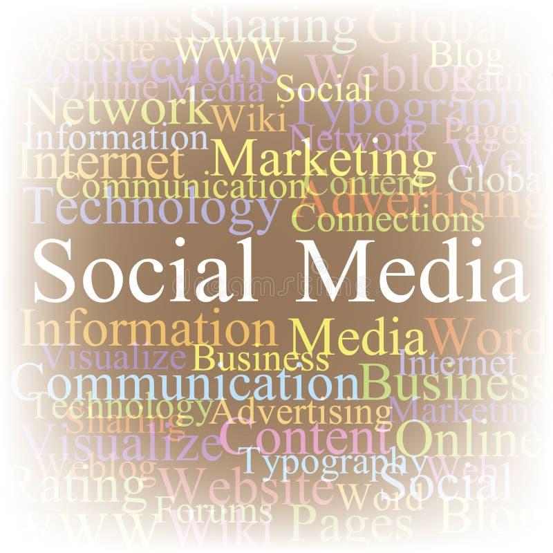 De wolken Sociale media van de markering royalty-vrije illustratie