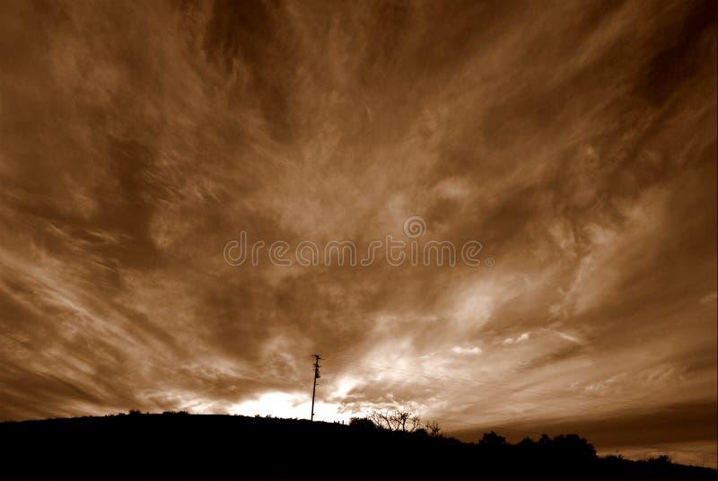 De Wolken van de brand royalty-vrije stock fotografie