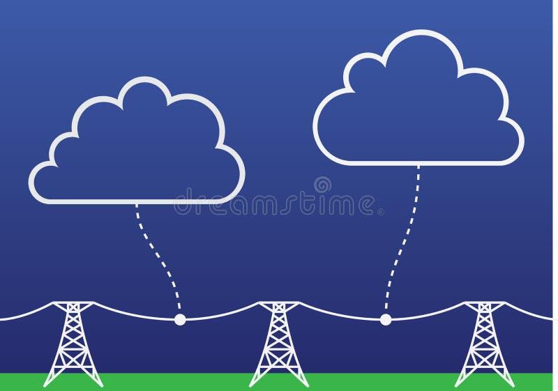 De wolken van de computer royalty-vrije illustratie