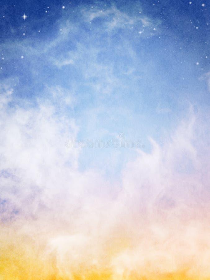 De Wolken van de fantasie royalty-vrije stock afbeelding