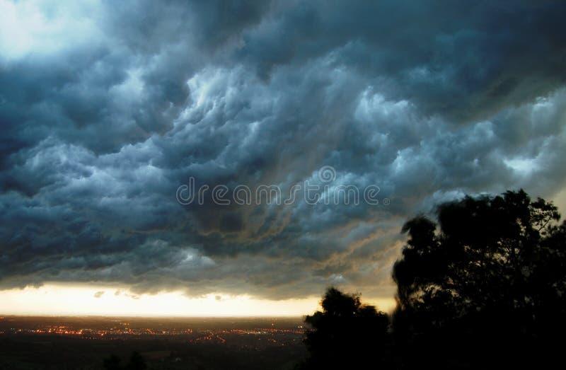 De wolken van de onweersbui   royalty-vrije stock fotografie