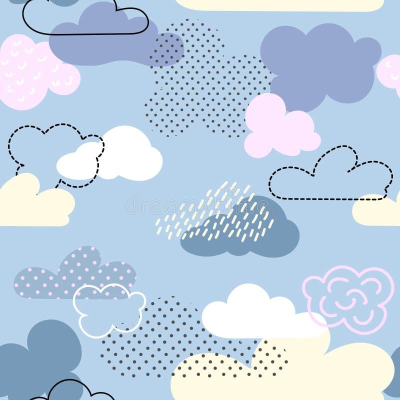 De wolken van het beeldverhaal vector illustratie