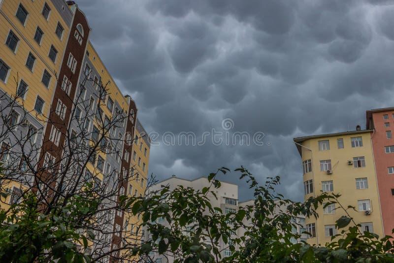 De Wolken van Mammatus royalty-vrije stock afbeelding