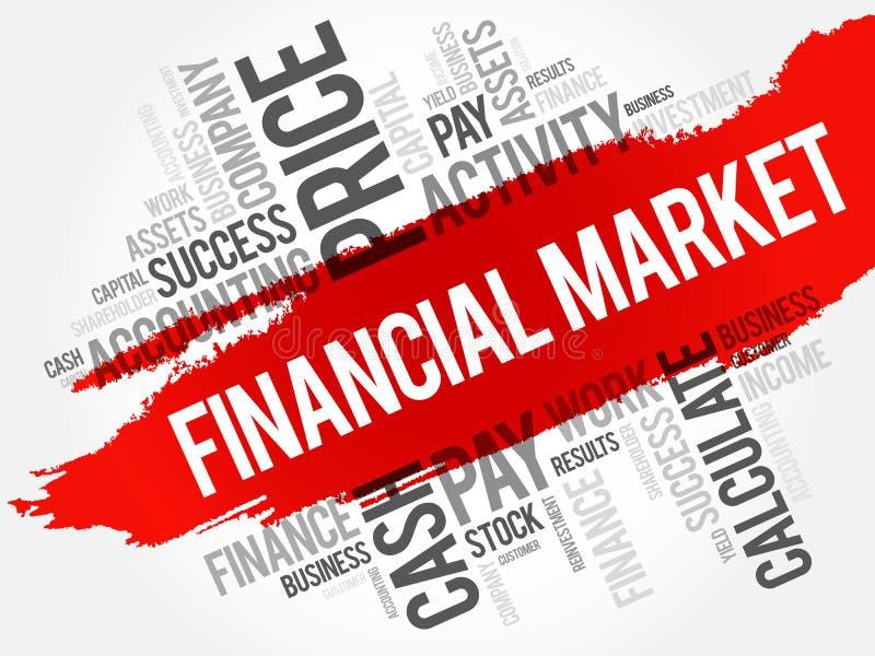 De wolkencollage van het financiële marktwoord vector illustratie