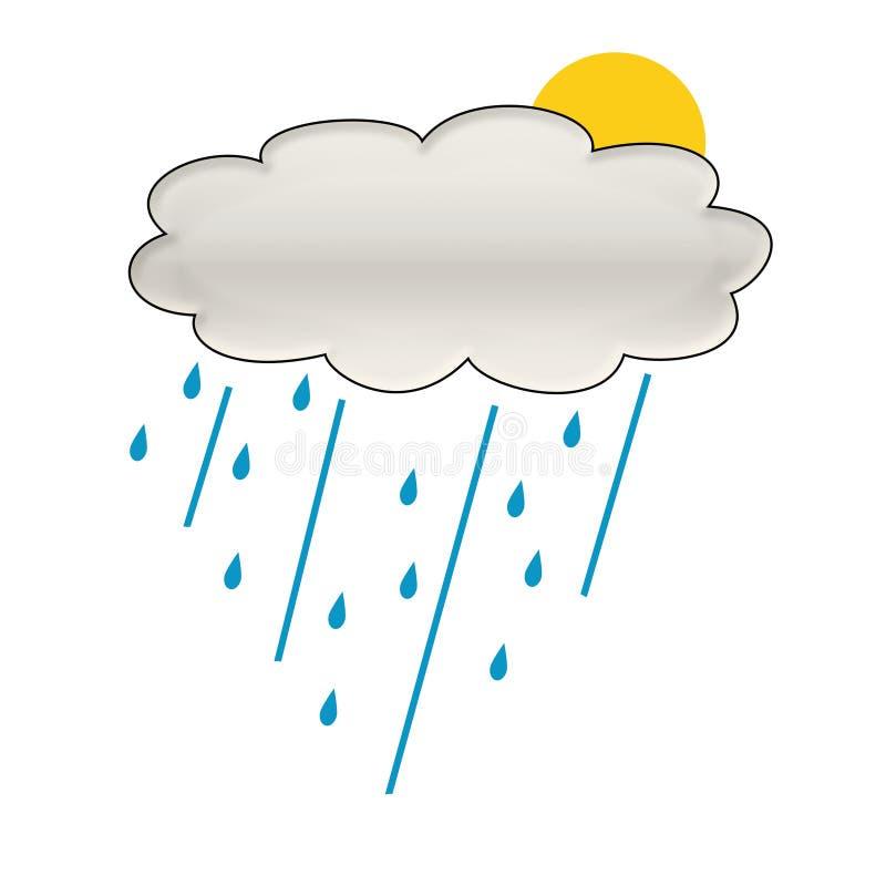 De wolkenillustratie van de regen royalty-vrije illustratie