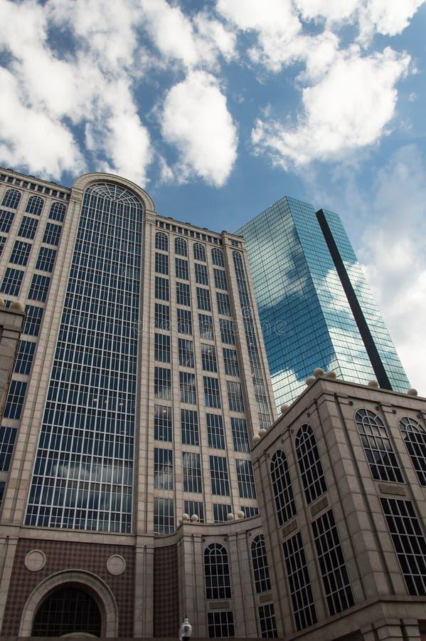 De wolkenkrabber van Boston stock afbeeldingen