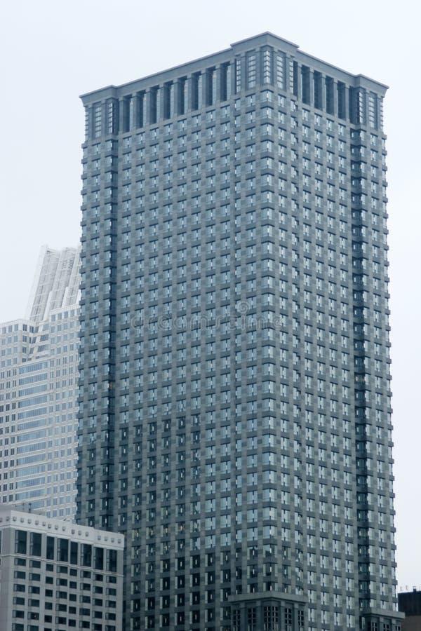 De wolkenkrabber van Chicago - de stedelijke bouw stock afbeelding