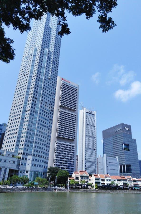 De wolkenkrabber van Singapore stock fotografie