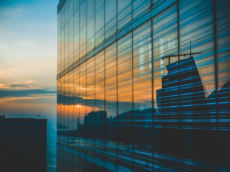 De wolkenkrabberglas van Hong Kong kowloon royalty-vrije stock fotografie