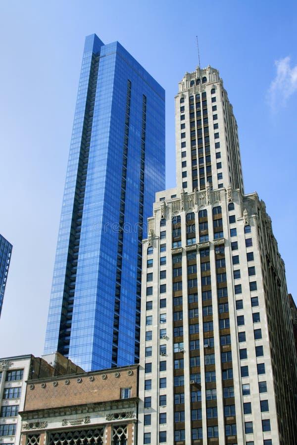 De Wolkenkrabbers van Chicago stock afbeeldingen