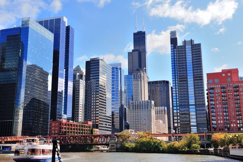 De wolkenkrabbers van Chicago royalty-vrije stock afbeelding