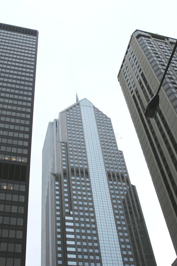 De wolkenkrabbers van de stad stock foto's