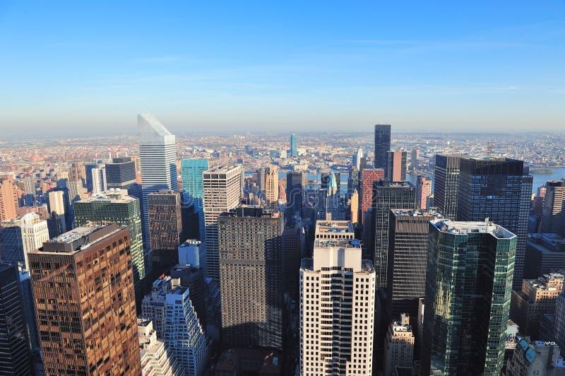 De wolkenkrabbers van de Stad van New York royalty-vrije stock afbeelding