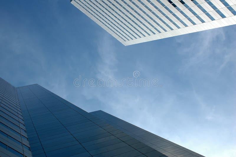 De Wolkenkrabbers van het Bureau van Montreal stock afbeeldingen
