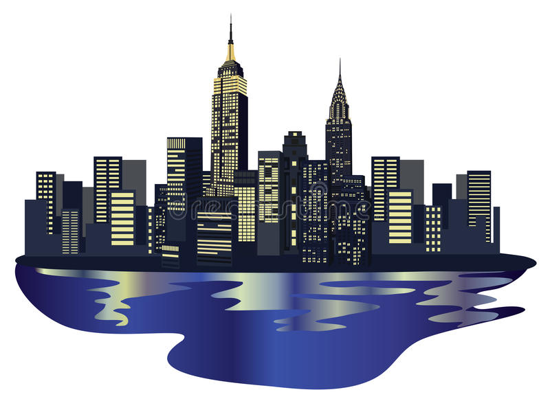 De Wolkenkrabbers van New York vector illustratie