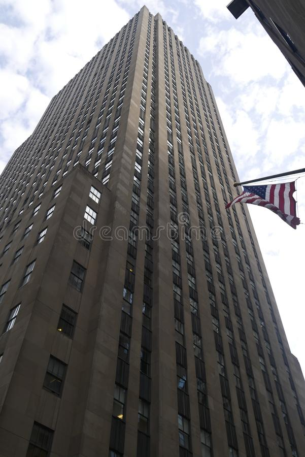 De wolkenkrabbers van New York van volledig worden gezien die stock afbeeldingen